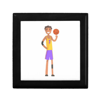 Basketball Player Turning Ball On A Finger Action Gift Box