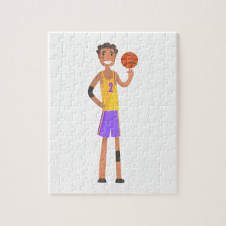 Basketball Player Turning Ball On A Finger Action Jigsaw Puzzle