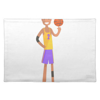 Basketball Player Turning Ball On A Finger Action Placemat