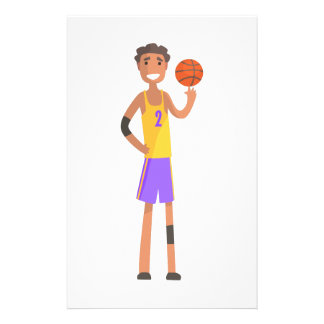 Basketball Player Turning Ball On A Finger Action Stationery