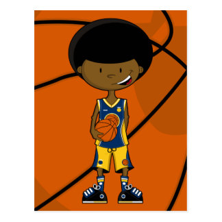 Basketball Player with Afro Postcard