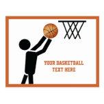 Basketball player with ball custom postcard