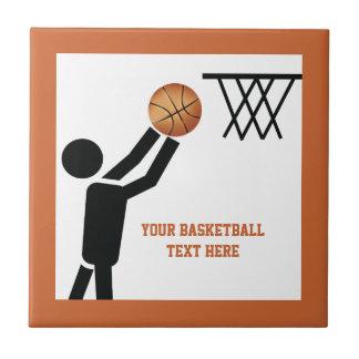 Basketball player with ball custom tile