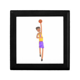 Basketball Player With The Ball Action Sticker Gift Box