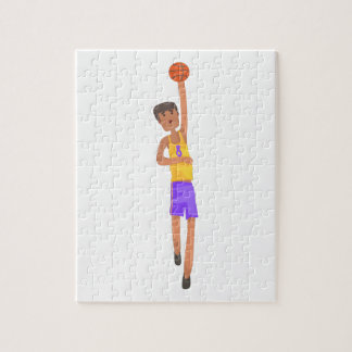 Basketball Player With The Ball Action Sticker Jigsaw Puzzle