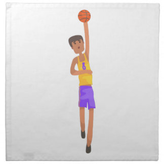 Basketball Player With The Ball Action Sticker Napkin