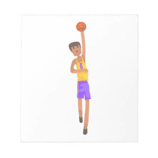 Basketball Player With The Ball Action Sticker Notepad