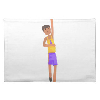 Basketball Player With The Ball Action Sticker Placemat