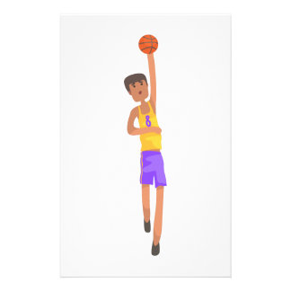 Basketball Player With The Ball Action Sticker Stationery