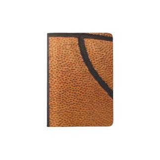 Basketball Print Pattern Background Passport Holder