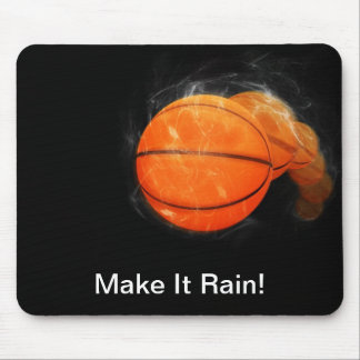 Basketball Rain Customizable Mouse Pad