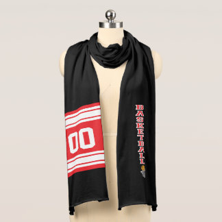 Basketball Red Letter | Personalize Scarf