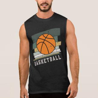 Basketball Retro Vintage Stripes Sleeveless Shirt