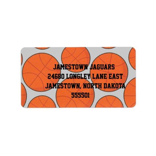 Basketball Return Address Label