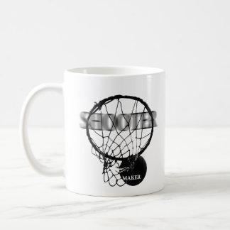 Basketball: Shooter vs. Maker Classic White Coffee Mug