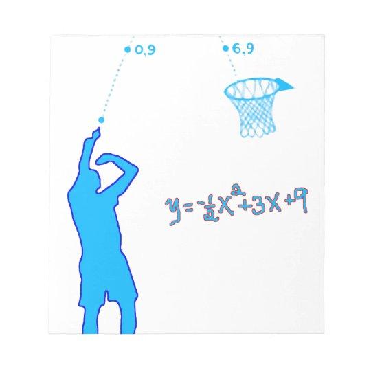Basketball Shot and Quadratic equation Notepad