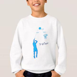 Basketball Shot and Quadratic equation Sweatshirt