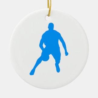 Basketball Silhouette Ceramic Ornament