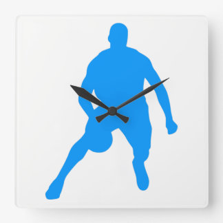 Basketball Silhouette Square Wall Clock