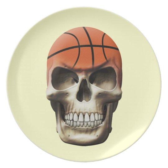 Basketball Skull Plate