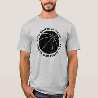 Basketball Slam Dunk Add Name and Date T-Shirt