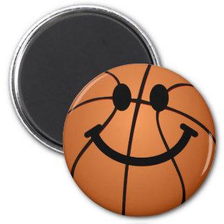 Basketball smiley face magnet