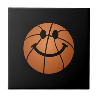 Basketball smiley face tile