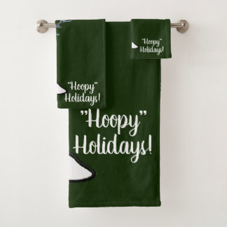 Basketball Snowman Christmas Bath Towel Set