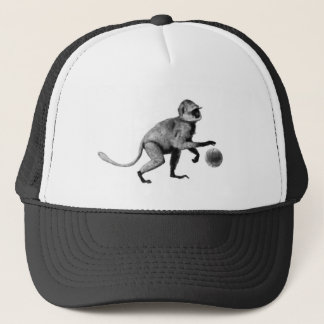 Basketball spider monkey trucker hat