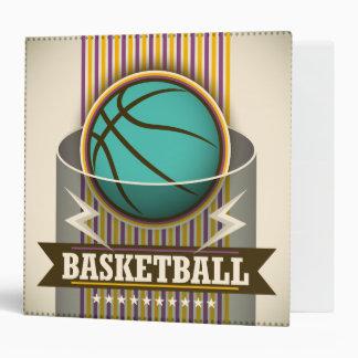 Basketball Sport Ball Game Cool 3 Ring Binder