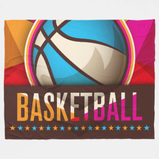 Basketball Sport Ball Game Cool Abstract Fleece Blanket