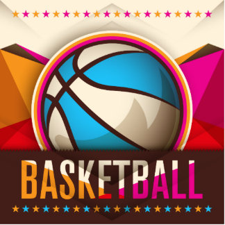 Basketball Sport Ball Game Cool Abstract Photo Sculpture Ornament