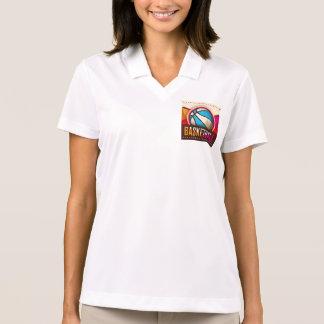 Basketball Sport Ball Game Cool Abstract Polo T-shirts
