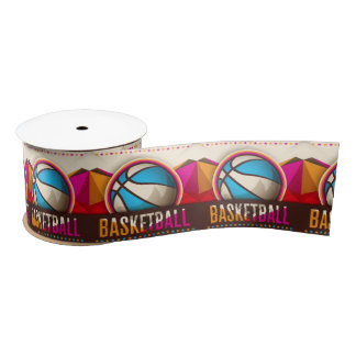 Basketball Sport Ball Game Cool Abstract Satin Ribbon