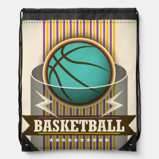 Basketball Sport Ball Game Cool Drawstring Backpacks