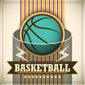 Basketball Sport Ball Game Cool Photo Sculpture Button