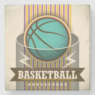 Basketball Sport Ball Game Cool Stone Beverage Coaster