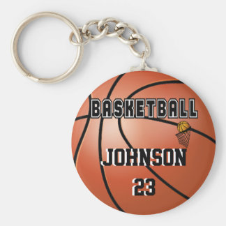Basketball Sport | DIY Name & Number Keychain