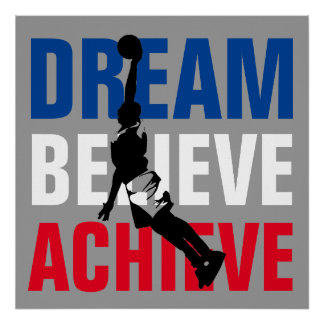 Basketball Sport Motivational Inspirational Unique Poster
