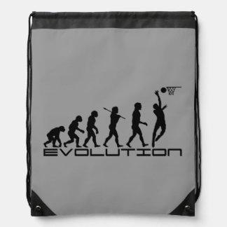 Basketball Sports Grey Drawstring Bag