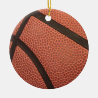Basketball Sports Image Round Ceramic Ornament
