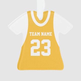 Basketball Sports Jersey Gold Ornament