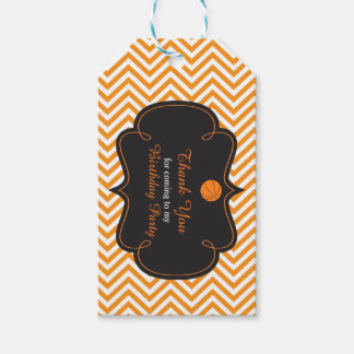 Basketball Sports Orange Gift Tag Pack Of Gift Tags