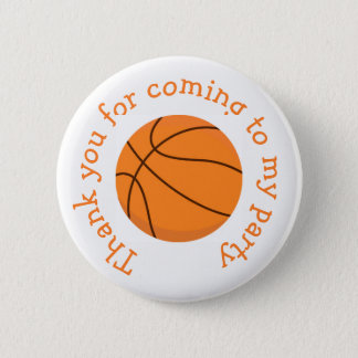 Basketball Sports Orange 'Thank you for coming' 2 Inch Round Button