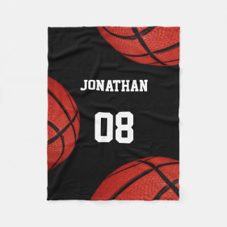 Basketball Sports Team Personalized blanket