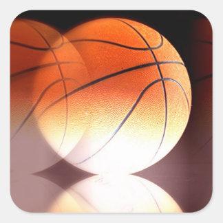 Basketball Square Sticker