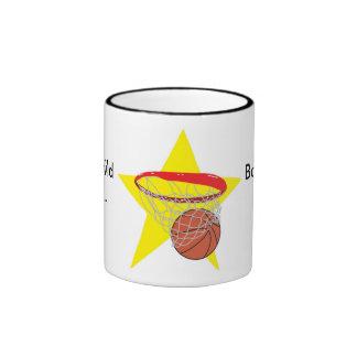 Basketball star!  Customizable: Ringer Mug