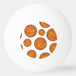 Basketball Star Pattern Ping Pong Ball