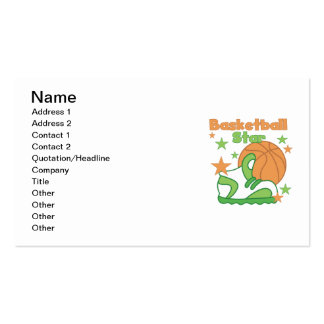 Basketball Star Shoe T-shirts and Gifts Pack Of Standard Business Cards
