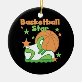 Basketball Star Shoe T-shirts and Gifts Round Ceramic Ornament